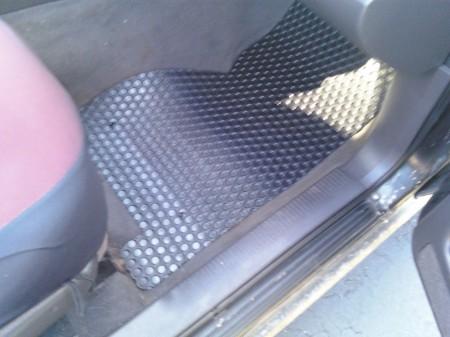 Lloyd Mats Rubbertite Car Floor Mats installed in Jeep Grand