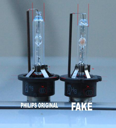 Fake VS Original Philips D2S HID Bulb