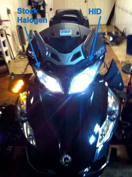 Cam-AM Spyder HID Kit