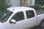 2008 GMC Sierra Crew Cab WeatherTech Visors
