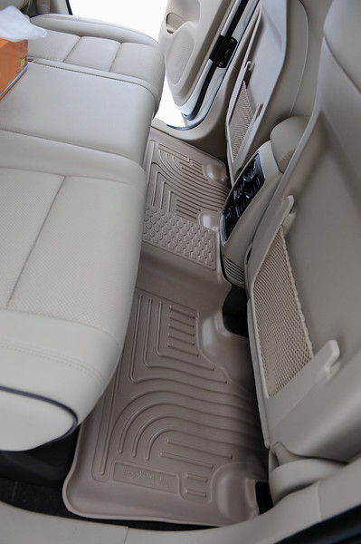 Husky floor liners in the rear of 2011 Grand Cherokee