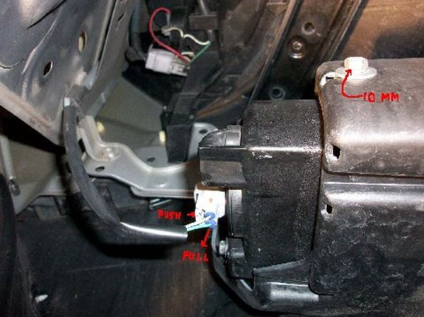 this picture shows the fog light housings and the assembled