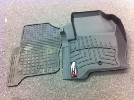 WeatherTech Liners cover much more area than regular floor mats